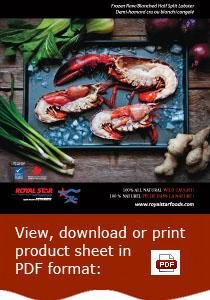Frozen Raw/Blanched Half Split Lobster