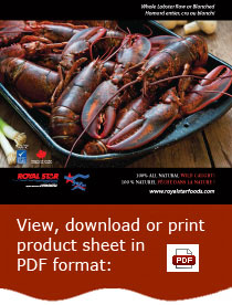 Whole Lobster Raw or Blanched