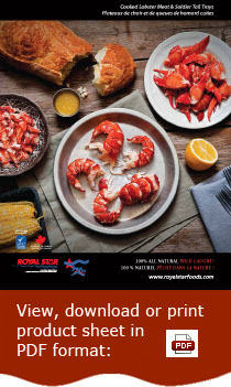 Cooked Lobster Meat & Soldier Tail Trays