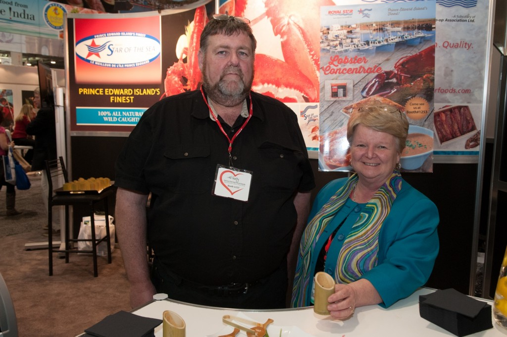 ACOA Minister Gail Shea, shown here with Francis Morrissey, general manager of Royal Star Foods