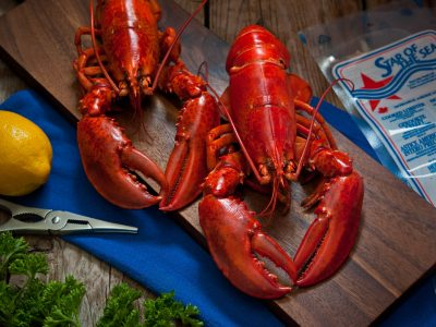 Whole Cooked PEI Popsicle Lobster